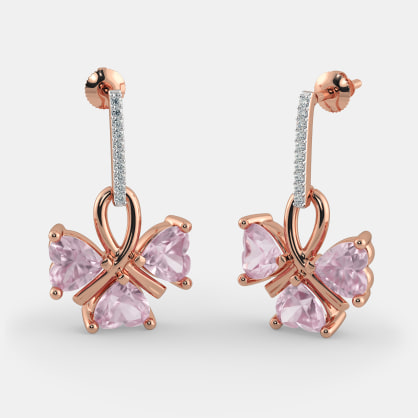 The Alonza Rose Quartz Earrings
