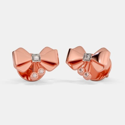 The Pink Bow Stud Earrings For Kids