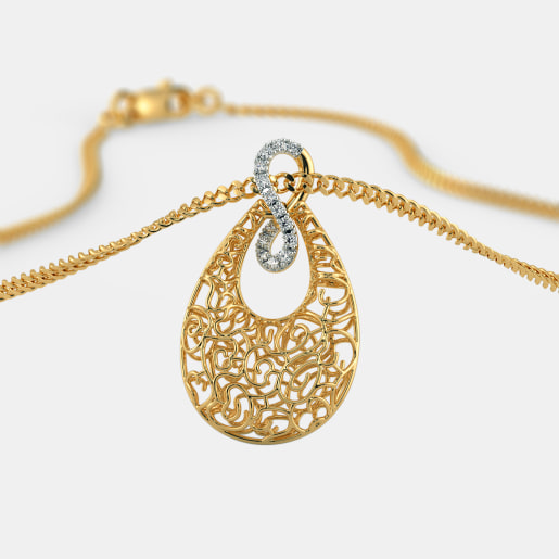 The Pear Lattice Pendant