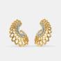 The Kalapi feather Hoop Earrings