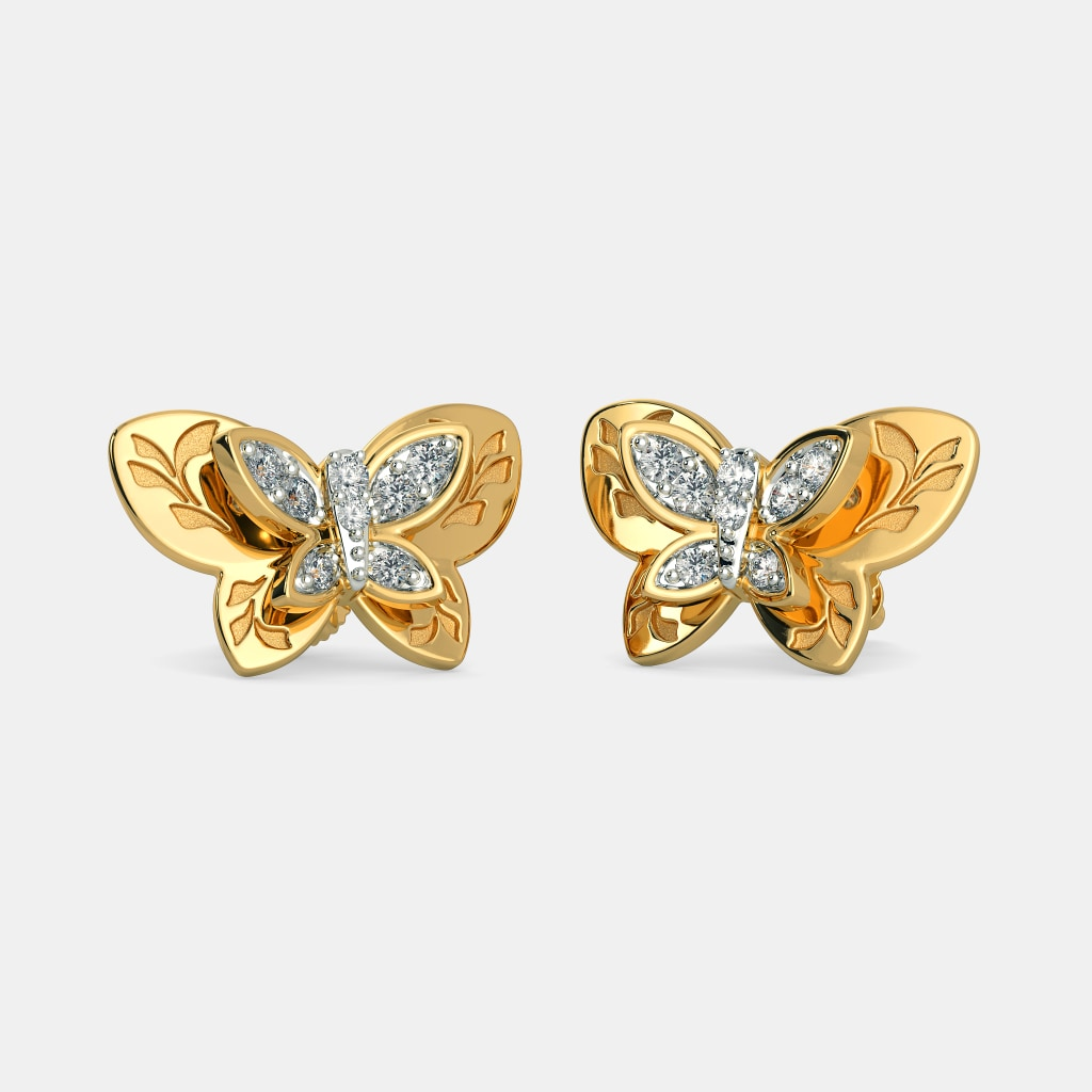 d39260a87 The Regina Butterfly Earrings | BlueStone.com