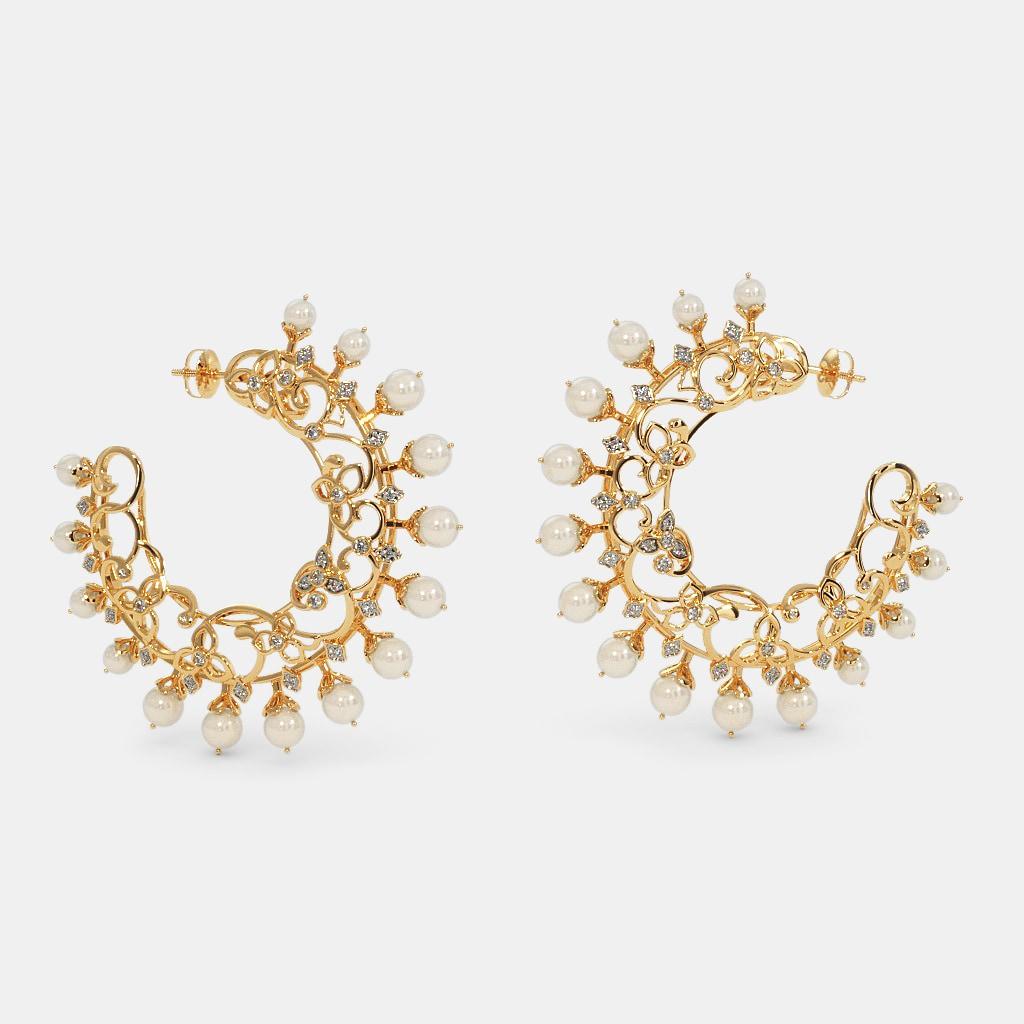 The Kashud Chand Bali Hoop Earrings