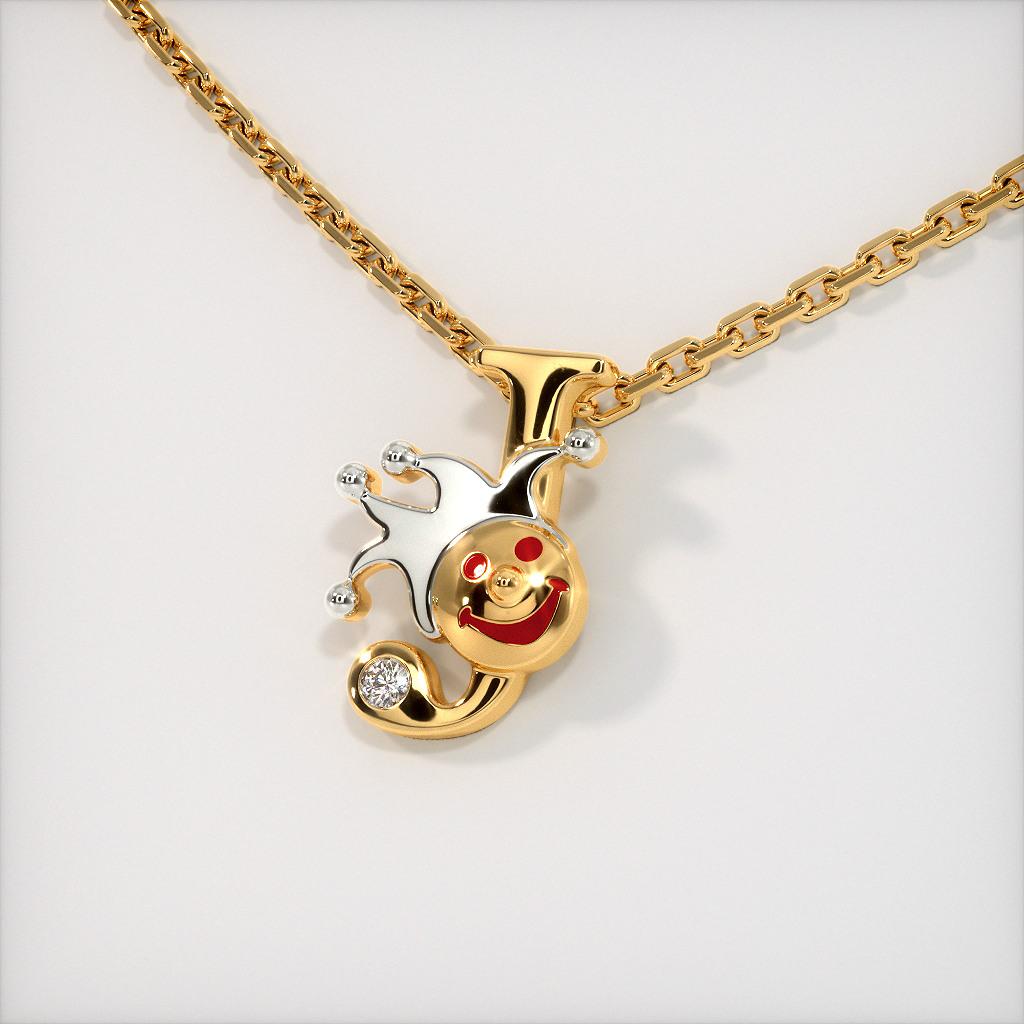The J for Joker Necklace for Kids