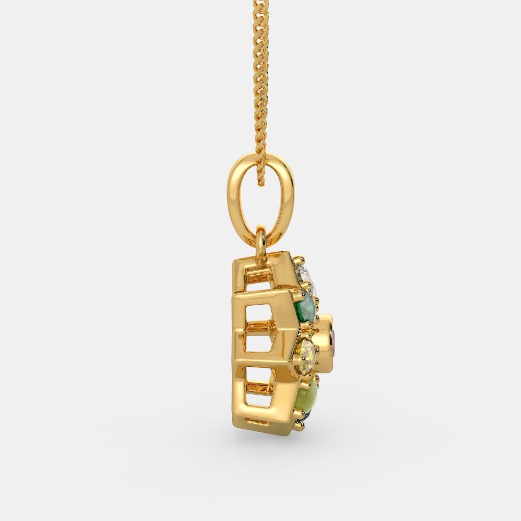 Reversible Manisha Pendant Necklace Multi Color