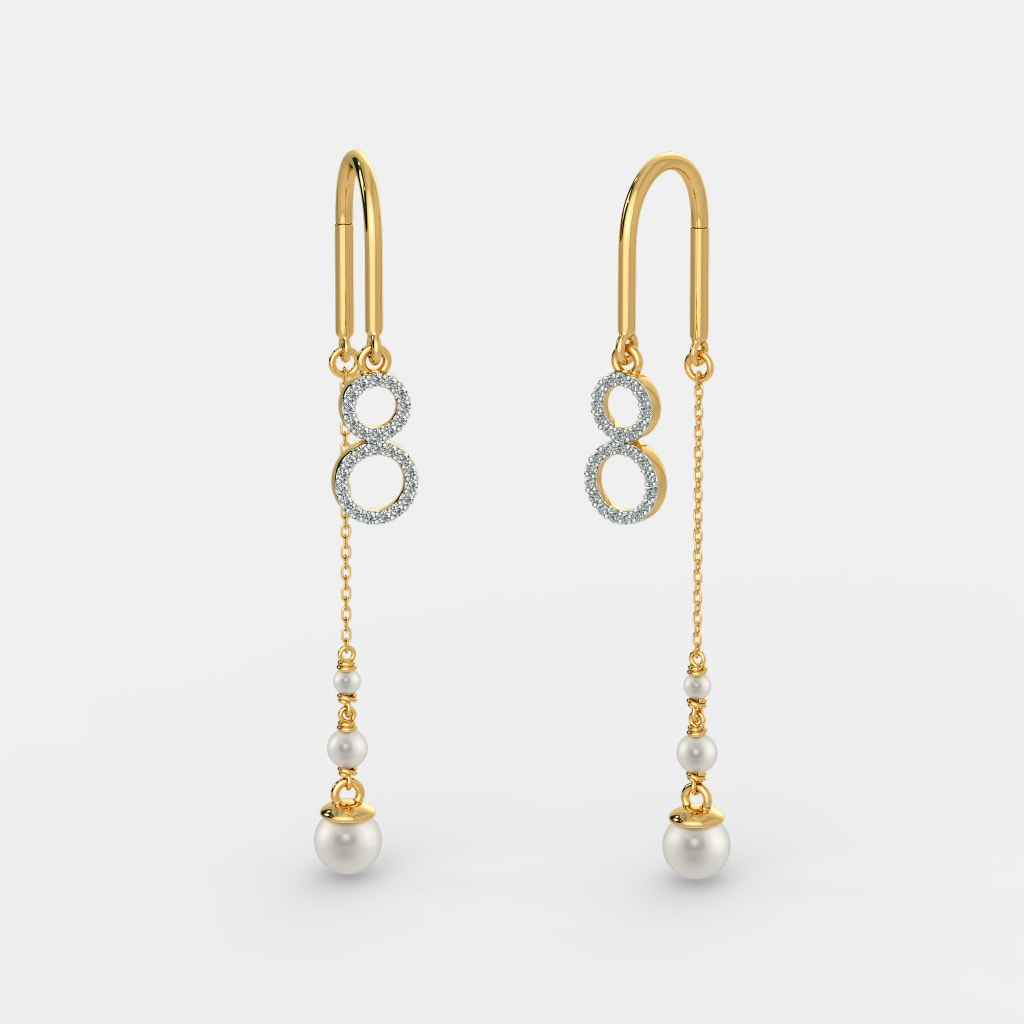 The Elegant Colure Sui Dhaga Earrings Bluestone Com