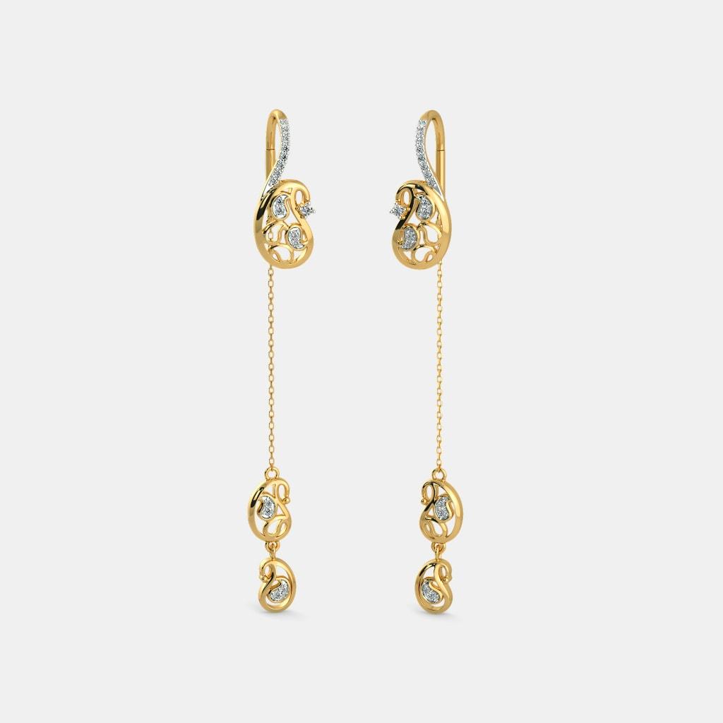f479c22f9 The Anvi Sui Dhaga Earrings | BlueStone.com