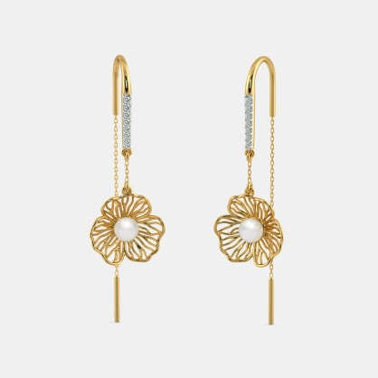 The Begonia Sui Dhaga Earrings