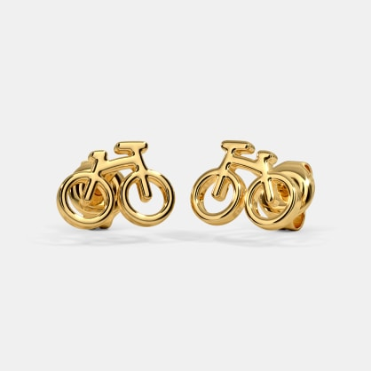 The Sporty Bicycle Kids Stud Earrings