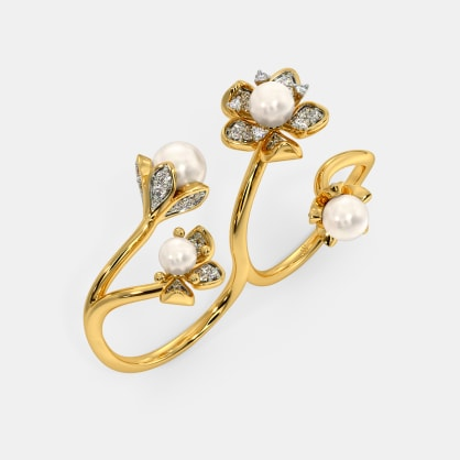The Fioritura Two Finger Ring