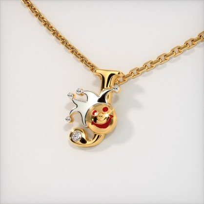 The J for Joker Necklace for Kids