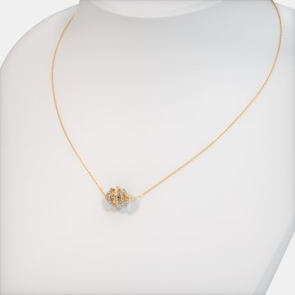 The Spherical Spiral Necklace