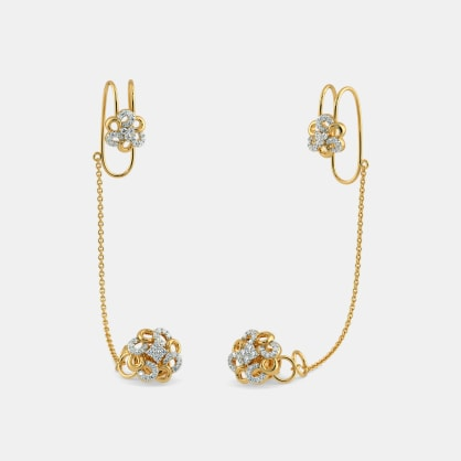 The Mailie Stud Chain Clips Earrings