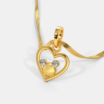 The Little Mickey Heart Pendant For Kids