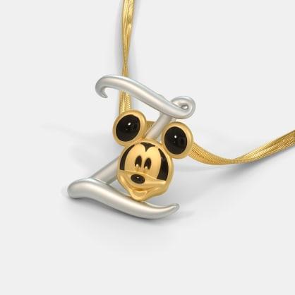 The Z For Zapper Mickey Pendant For Kids