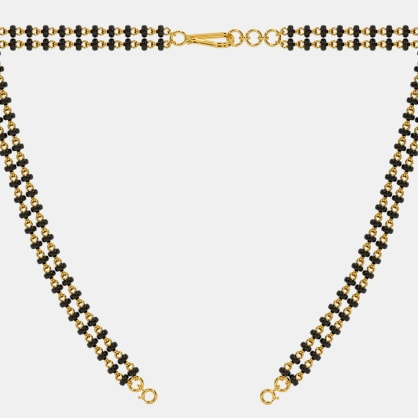 The Microbead Mangalsutra Double Line Open Chain With Lock