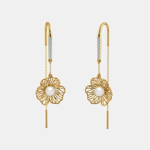 The Begonia Sui Dhaga Earrings