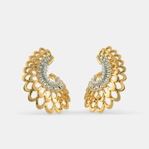 The Kalapi feather Hoop Earrings