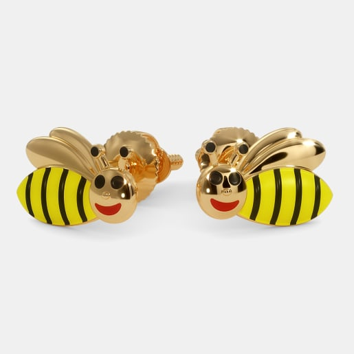 The Bumble Bee Earrings For Kids