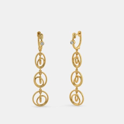 The Dazzling Clasped Drop Earrings