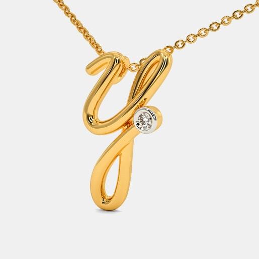 The Cursive Y Necklace