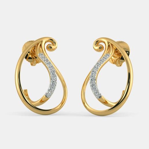 The Asmita Paisley Stud Earrings