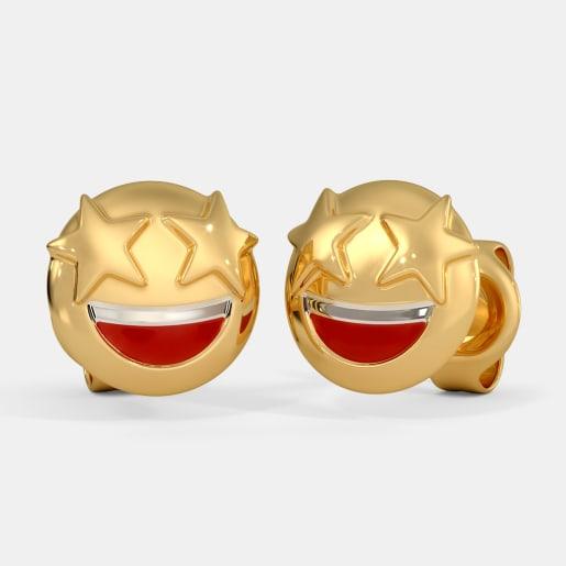 The Rockstar Smiley Kids Stud Earrings