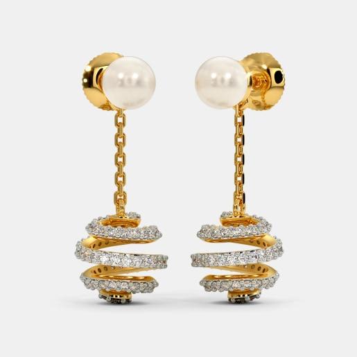 The Spherical Spiral Drop Earrings