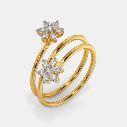 The Dual Sparkling Spiral Ring