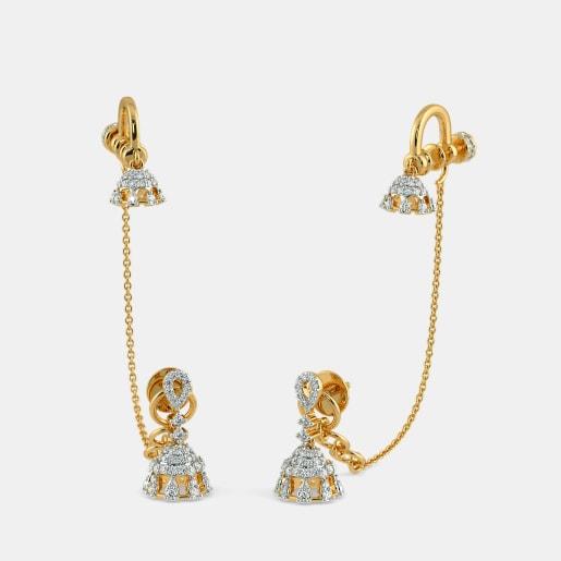 The Katylyn Stud Chain Clips Earrings