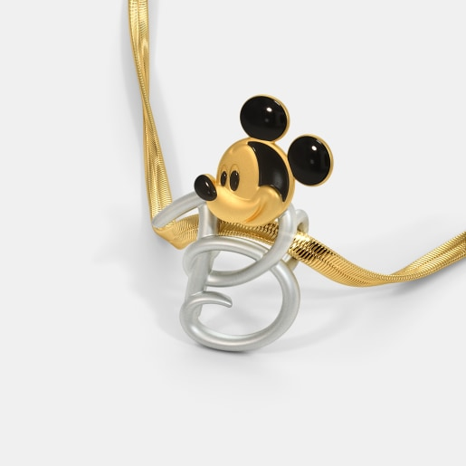 The B For Bright Mickey Pendant For Kids