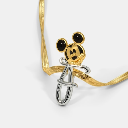 The F For Fabulous Mickey Pendant For Kids