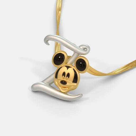 The Z For Zapper Mickey Pendant For Kids